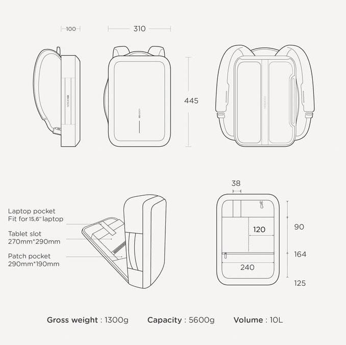Dimenzije - Biznis Boban torba za laptop