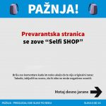 Selfi shop fejsbuk stranica - prevaranti